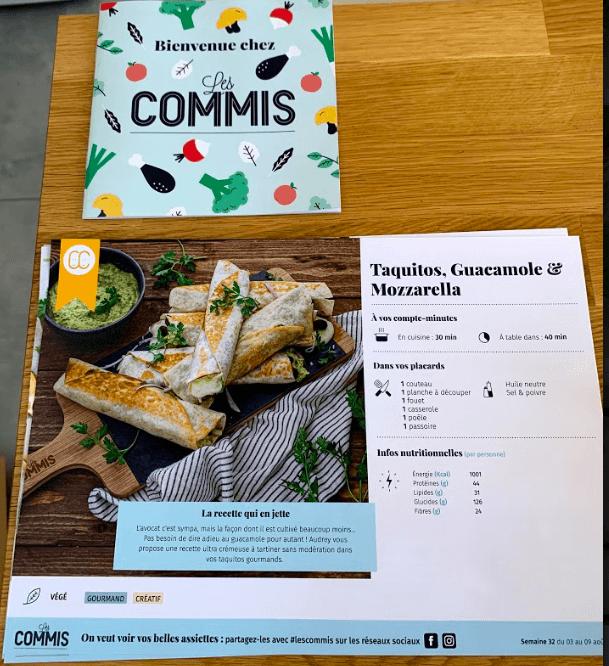 fiches recettes des commis
