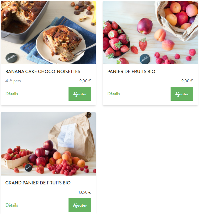 panier de fruits bio foodette