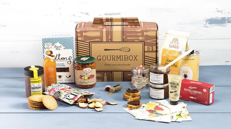 box gastronomie Gourmibox vous recevrez 5 à 7 produits d'épicerie fine